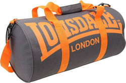 Lonsdale Barrel Bag 705013-Charcoal/Orange