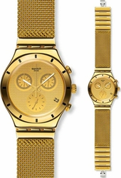 Swatch Irony Chrono Golden Cover Stainless Steel Bracelet YCG410G