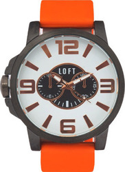 Loft Men Orange Rubber Strap LFT008ORG