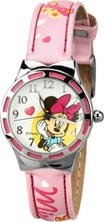 Disney Children's Minnie Mouse Pink Leather Strap 99105