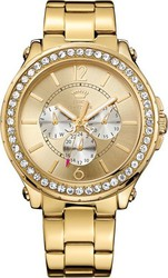 Juicy Couture Pedigree Crystals Xlarge Multifunction Gold Stainless Steel 1901082