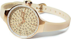 Hoops Cherie Diamond Gold Ladies Beige 2483LGD02