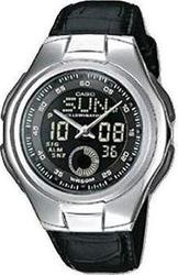 Casio LAW-21L-1BVEF Collection Illuminator Black Leather Strap
