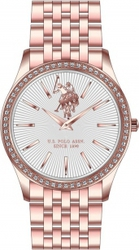U.S. Polo Assn. Crystals Rose Gold Stainless Steel Bracelet