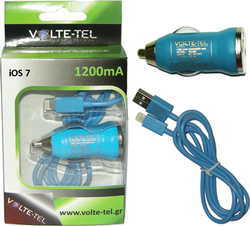 Volte-Tel Iphone 5 Usb(Φορτιστής-Data VCD01 VCU09 1200mA)Blue