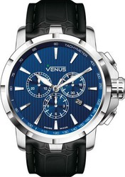 Venus Quartz Black Leather Strap VE-1311A1-38-L2