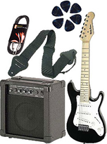 Granite Junior Guitar Black Set