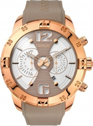 Breeze Popsugar Chronograph Rose Gold Stainless Steel Rubber Strap 110321.4