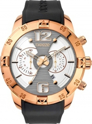 Breeze Popsugar Chronograph Rose Gold Stainless Steel Rubber Strap 110321.3