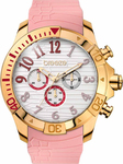 Breeze Breeze Sunsation Rose Gold Chrono Pink Silicone Strap 110311.10 110311.10