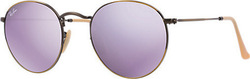 Ray Ban Round Flash Lenses RB3447 167/4K
