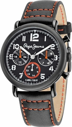 Pepe Jeans Sport Multifunction Black Leather Strap R2351105001