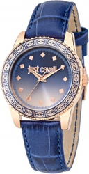 Just Cavalli Just Sunset Rose Gold Blue Leather Strap R7251202505