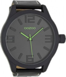 Oozoo Timepieces Black Leather Strap Unisex C7114