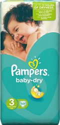 Pampers Baby Dry No 3 (4-9Kg) 50τμχ
