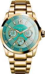 Jacques Farel Multifunction Ladies Gold Stainless Steel Bracelet AOL4008