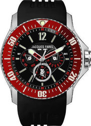 Jacques Farel Multifunction Black Rubber Strap ATX3366