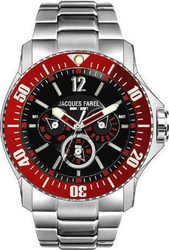 Jacques Farel Multifunction Stainless Steel Bracelet ATX3377