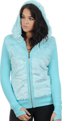 FOX GIRLS ABSOLUTE SASQUATCH ZIP HOODY ICED