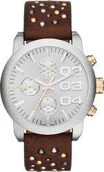 Diesel Flare Chrono Brown Leather Strap DZ5433