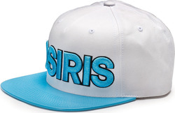 OSIRIS NYC LTD SNAPBACK HAT WHITE/CYAN