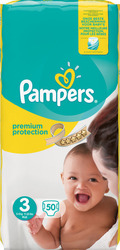 Pampers New Baby No 3 (4-9Kg) 50τμχ