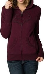 FOX GIRLS INTERFACE SHERPA ZIP HOOD BORDEAUX