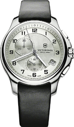 Victorinox Men's Black Leather Strap 241553