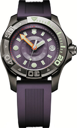 Victorinox Ladies Purple Rubber Strap 241558