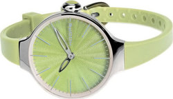 Hoops Cherie Green Rubber Strap 2483L-17