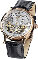 Ingersoll Golden Eyes Automatic Rose Gold Black Leather Strap IN1711RGY