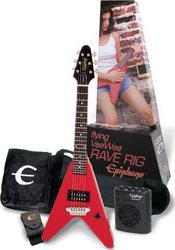 Epiphone Flying VeeWee Rave Rig Red Pack