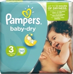 Pampers Baby Dry No 3 (4-9Kg) 30τμχ