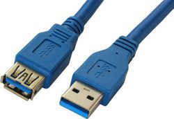 Powertech USB 3.0 Cable USB-A male - USB-A female 1.5m (CAB-U002)
