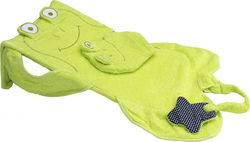 Minene Baby Bath Support Frog Green με Γάντι