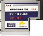 OEM AKE Express Card 54mm to USB 3.0 3-Ports