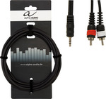 Alpha Audio Audio Cable 3.5mm male - 2 x RCA male 3m (190.165)