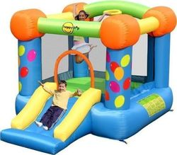 Happy Hop Party Slide and Hoop Bouncer