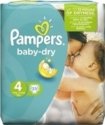 Pampers Baby Dry No 4 (7-18kg) 25τμχ