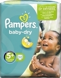 Pampers Baby Dry No 5+ (13-27Kg) 22 τμχ