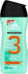 Adidas Active Start 3 In 1 Shower Gel 250ml