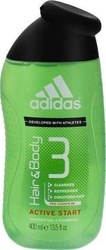 Adidas Active Start 3 In 1 Shower Gel 400ml