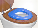 "Reer WC Child Seat ""Soft"" Blue"