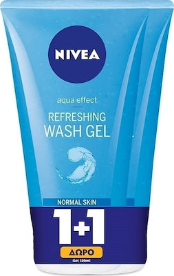 Nivea Refreshing Facial Wash Gel for Normal Skin 2x150ml
