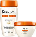 Kerastase Nutritive Bain Satin 1 Shampoo 250ml & Mask Masquintense 200ml (Normal - Dry Fine Hair)