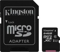 Kingston microSDXC 64GB U1 with Adapter (45MB/s)