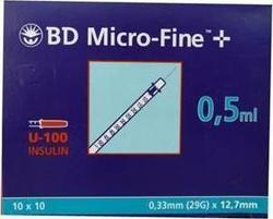 BD Micro-Fine+ 0.5ml 0.33mm (29G) x 12.7mm 100τμχ
