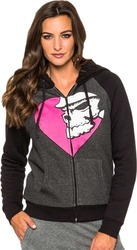 METAL MULISHA DAKOTA ZIP FLEECE JET BLACK
