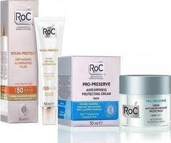 Roc Soleil Protect Anti Ageing SPF50 50ml & Pro Preserve Anti Dryness Protecting Rich Cream 50ml