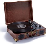 Bigben Interactive Turntable 'Suitcase' (Leather) TD102